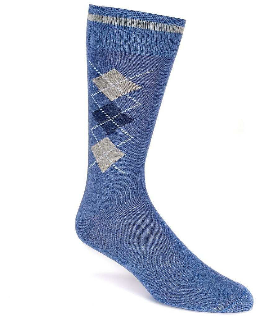 Cremieux Melange Argyle Crew Dress Socks