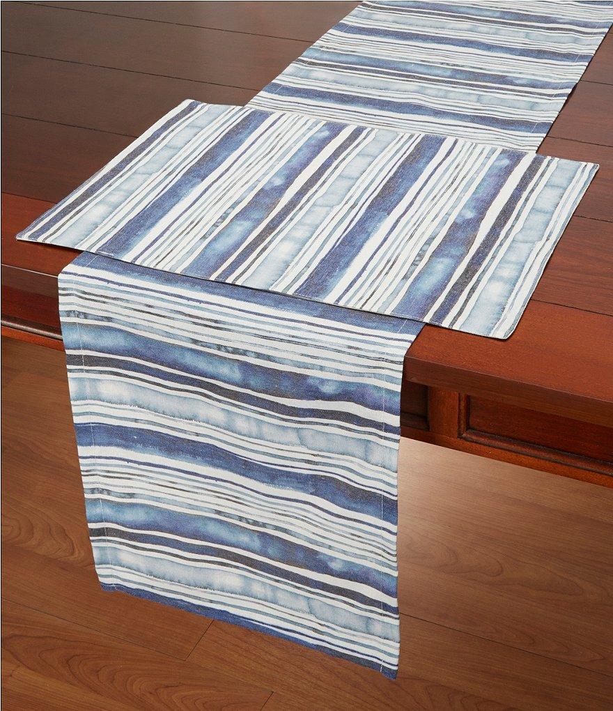 Homewear Brissac Watercolor Striped Table Linens