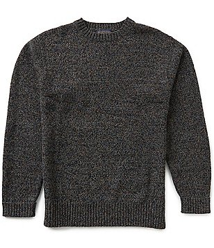 Pendleton Long-Sleeve Shetland Wool Crewneck Sweater