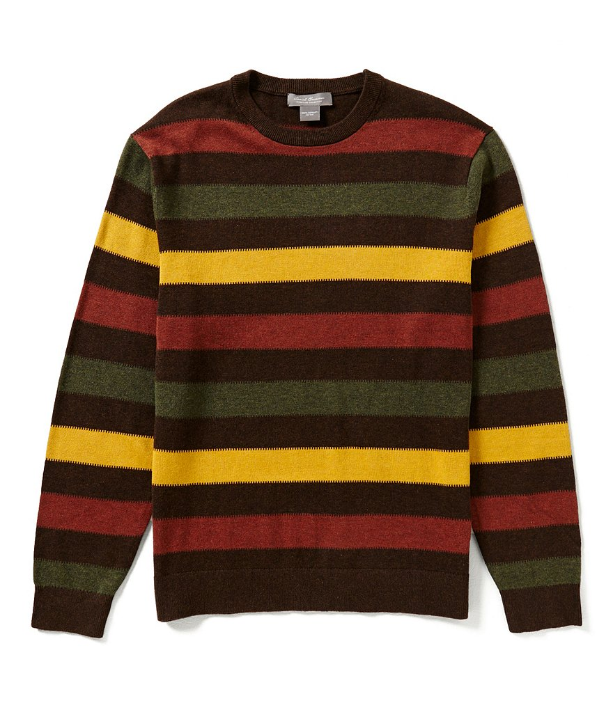 Daniel Cremieux Signature Horizontal-Stripe Fancy Supima Sweater