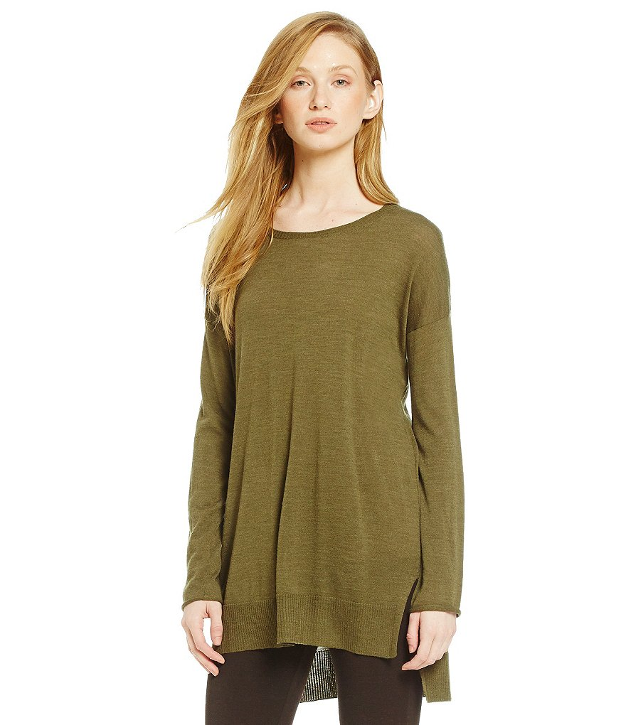 Eileen Fisher Round Neck Boxy Sweater Tunic