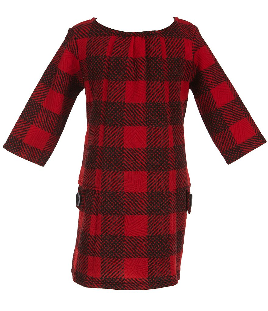 Marmellata Little Girls 2T-6X Plaid Pocket Dress