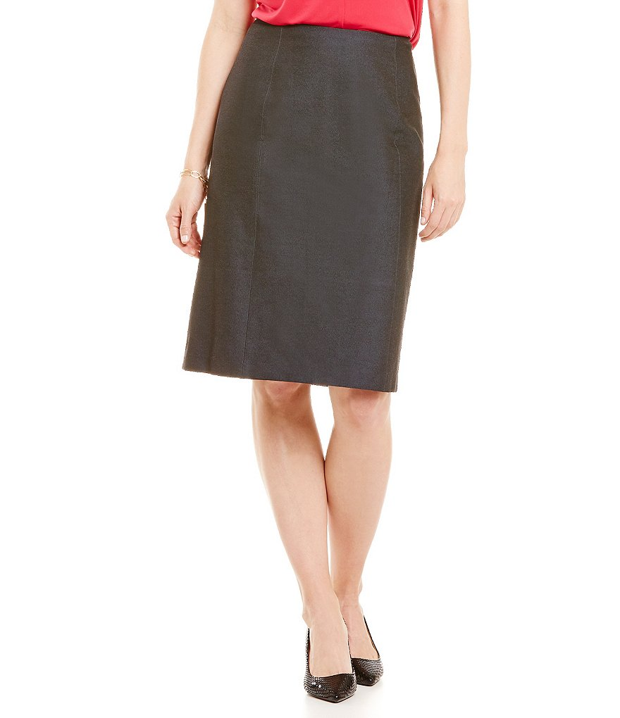 Preston & York Gwenn Stretch Denim Suiting Pencil Skirt