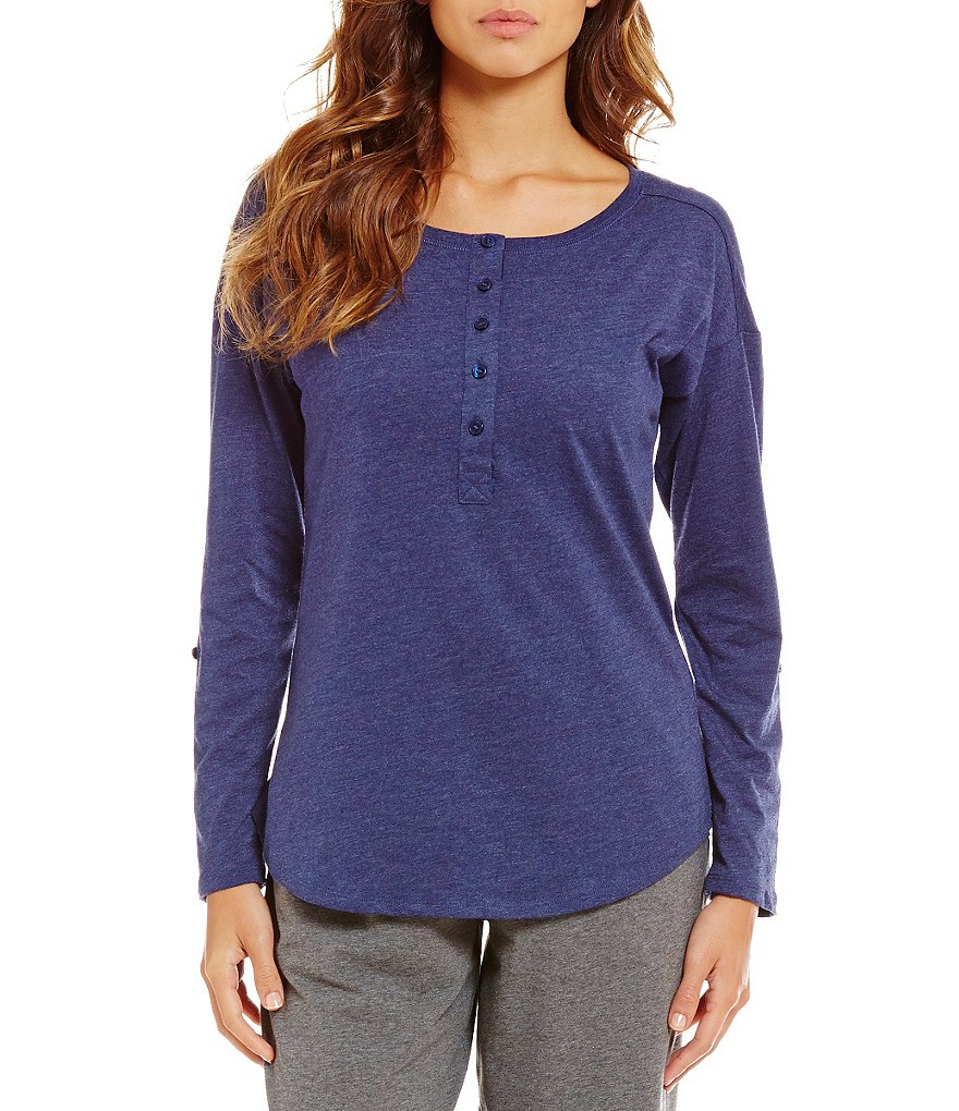 Sleep Sense Henley Jersey Sleep Top