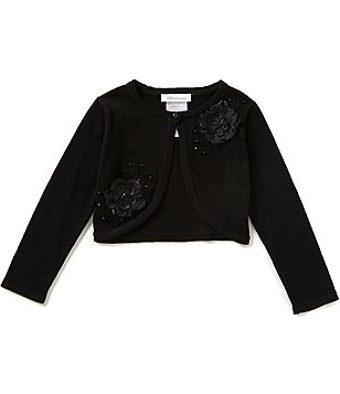 Bonnie Jean Little Girls 2T-6X Cropped Beaded Cardigan