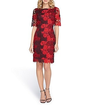 Tahari ASL Tonal Lace Sheath Dress