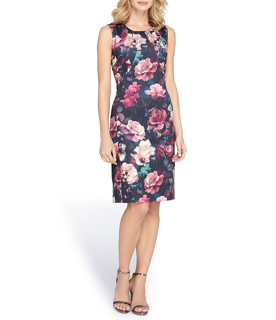 Tahari ASL Floral Printed Sheath Dress