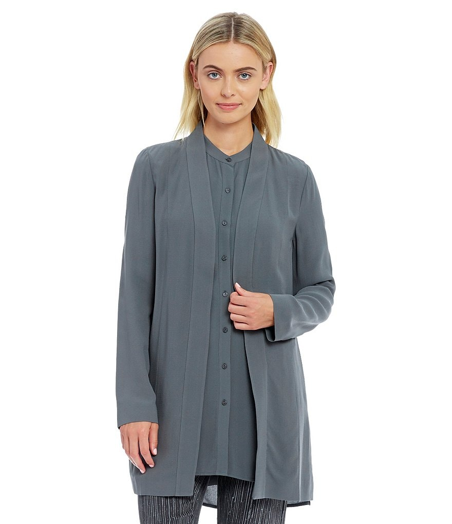 Eileen Fisher Kimono Silk Long Jacket