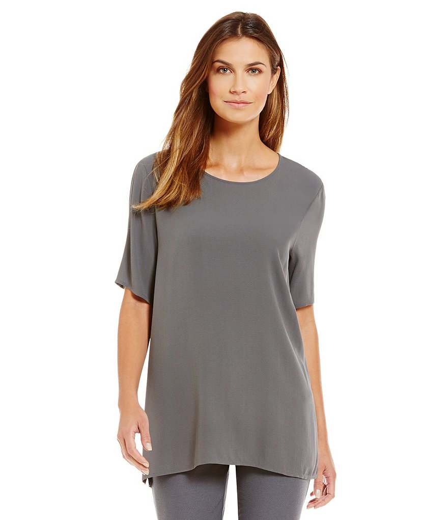 Eileen Fisher Round Neck Box Top
