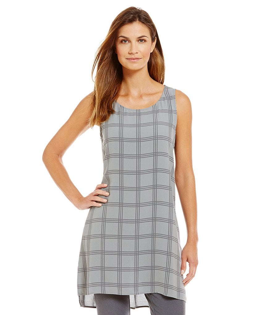 Eileen Fisher Scoop Neck Hi-Low Tunic