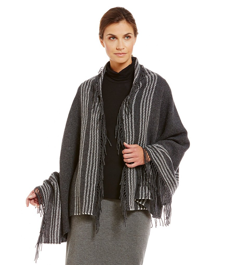 Eileen Fisher Trattino Wool Blend Wrap