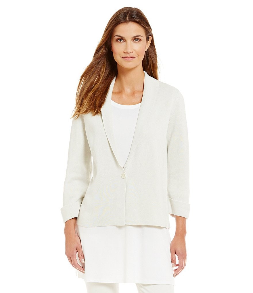 Eileen Fisher Notch Collar Boxy Jacket