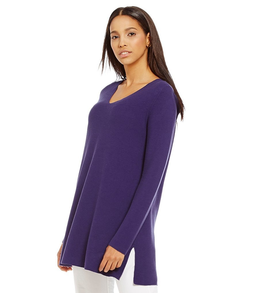 Eileen Fisher Deep V-Neck Tunic