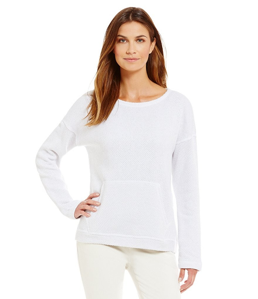 Eileen Fisher Ballet Neck Box-Top