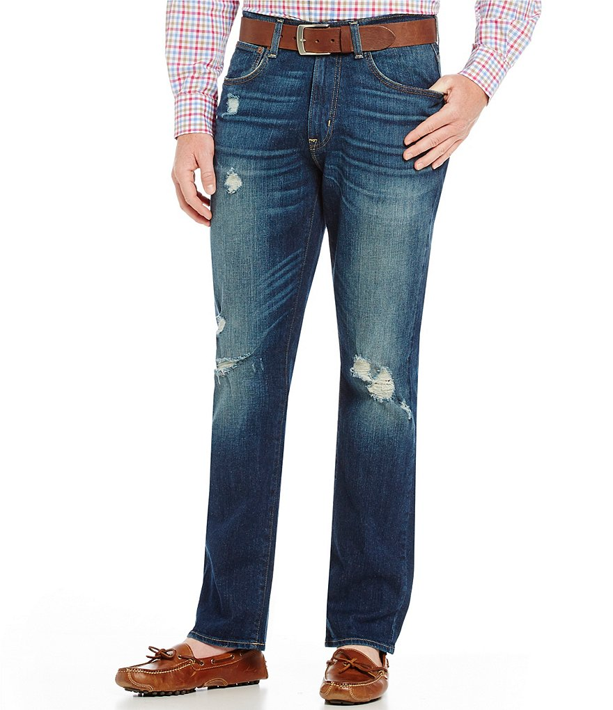 Cremieux Jeans Straight-Fit Distressed Jeans