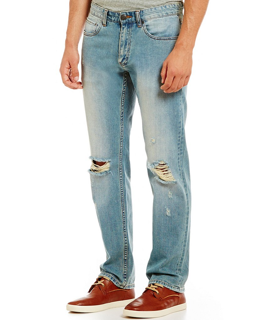 Flag & Anthem Lowell 5-Pocket Relaxed-Fit Distressed Jeans