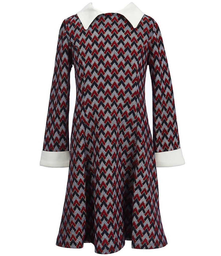 Bonnie Jean Little Girls 4-6X Printed Foiled-Knit A-line Dress
