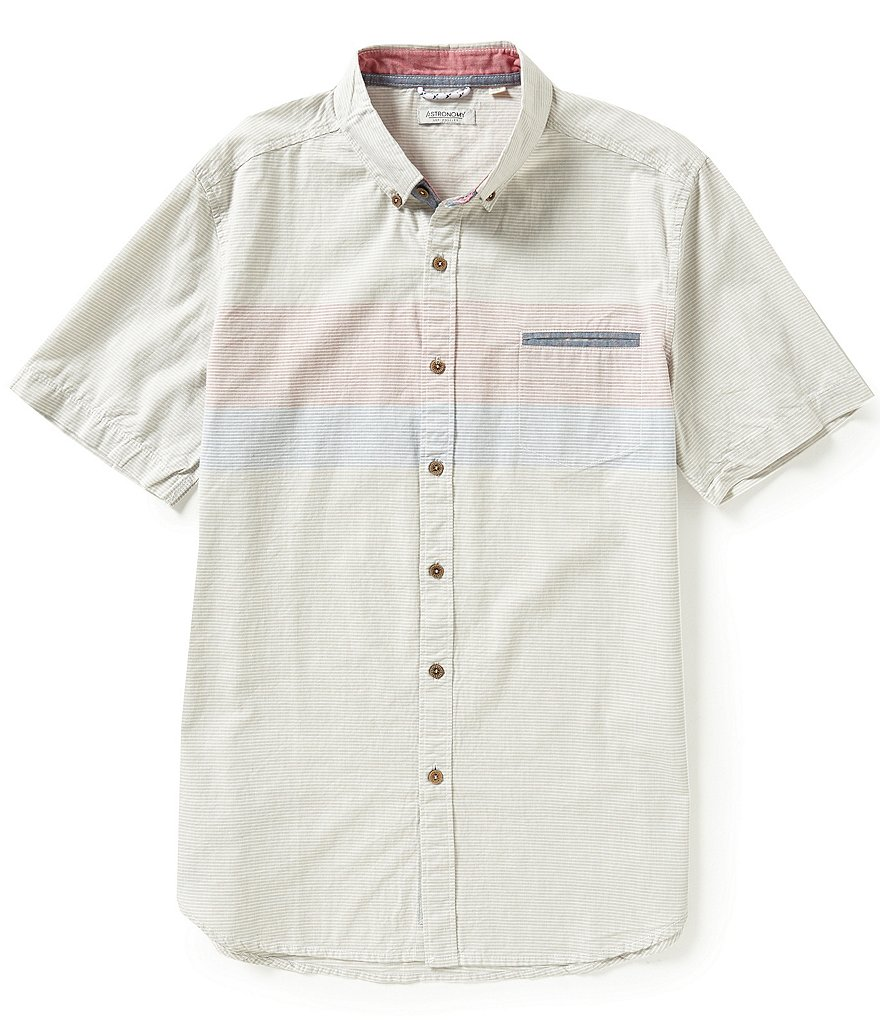 Astronomy Jetty Short-Sleeve Striped Shirt