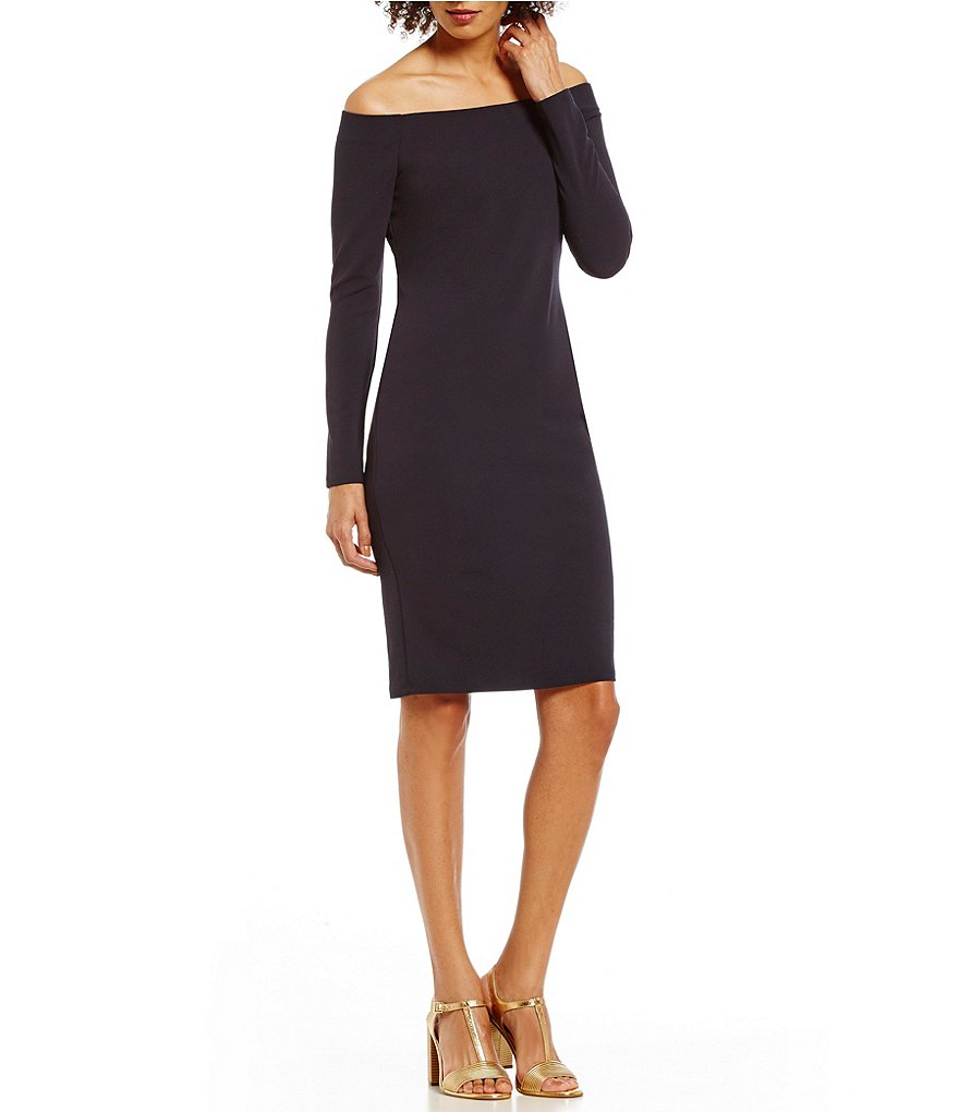 Eliza J Off the Shoulder Long Sleeve Sheath Dress