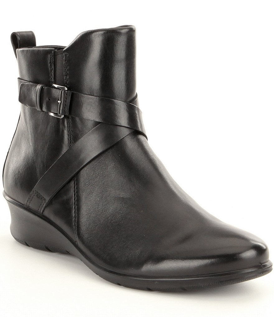 ECCO Felicia Ankle Buckle Leather Booties