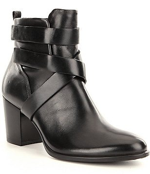 ECCO Shape 55 Calf Leather Strappy Ankle Boots