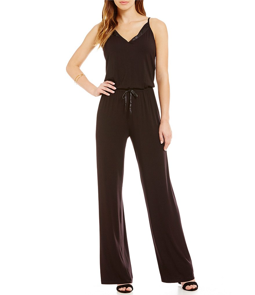 Midnight by Carole Hochman Jersey Lounge Jumpsuit