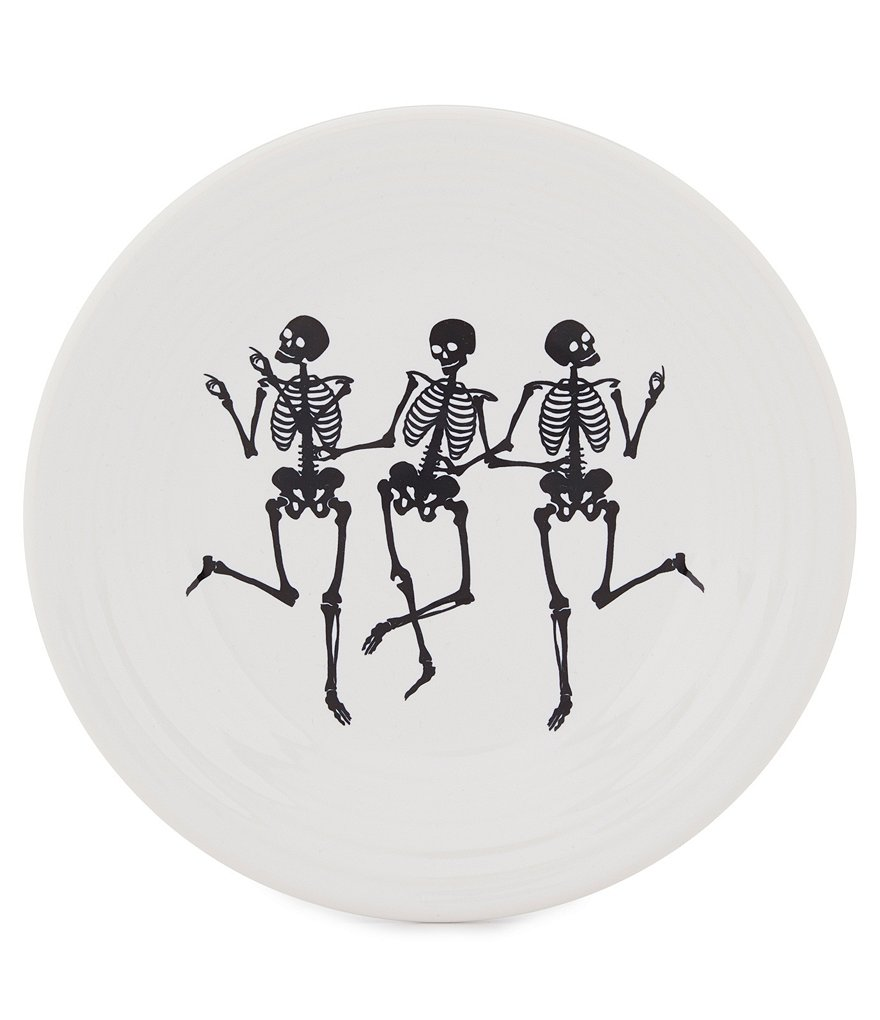 Fiesta Halloween Dancing Skeletons Luncheon Plate