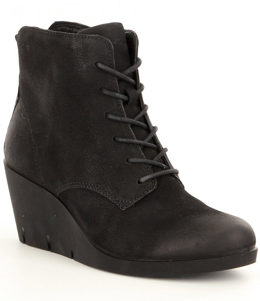 ECCO Bella Wedge Tie Booties