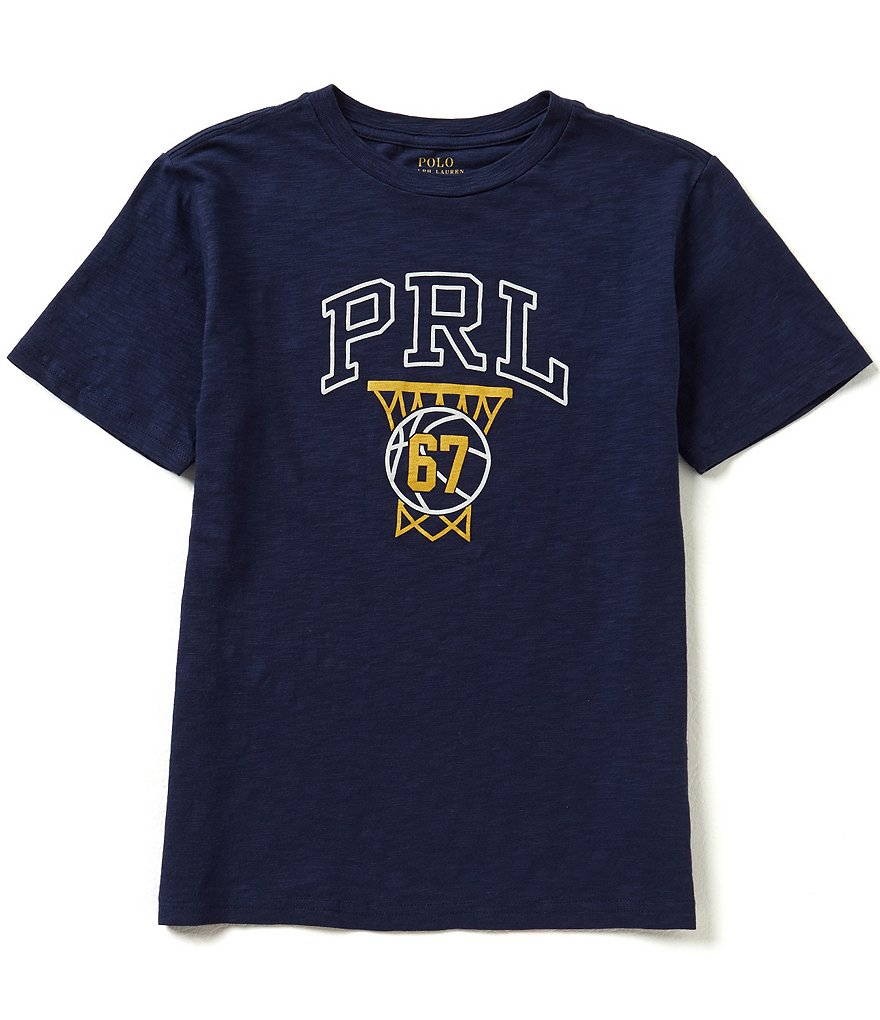 Ralph Lauren Childrenswear Big Boys 8-20 Slub Jersey Graphic Tee