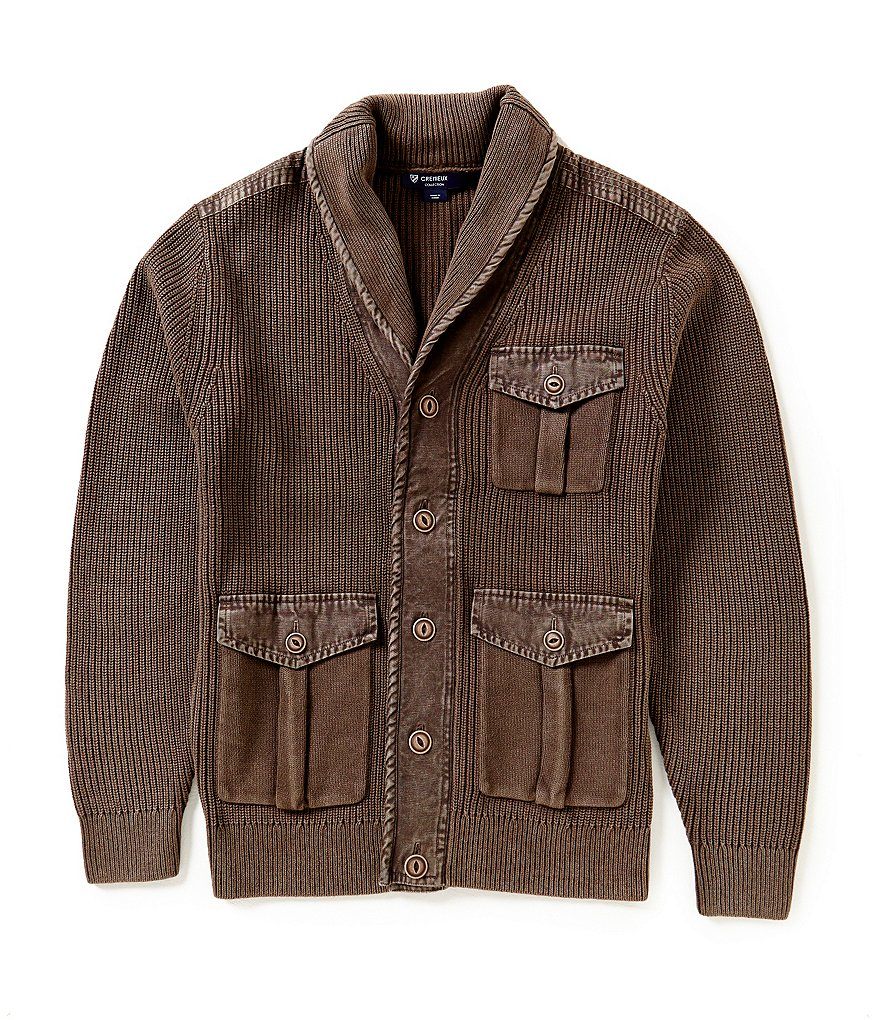 Cremieux Highland Peaks Collection Shawl Collar Elbow Patch Cardigan