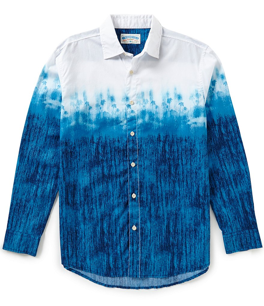 Margaritaville Long-Sleeve Ombre Printed Shirt