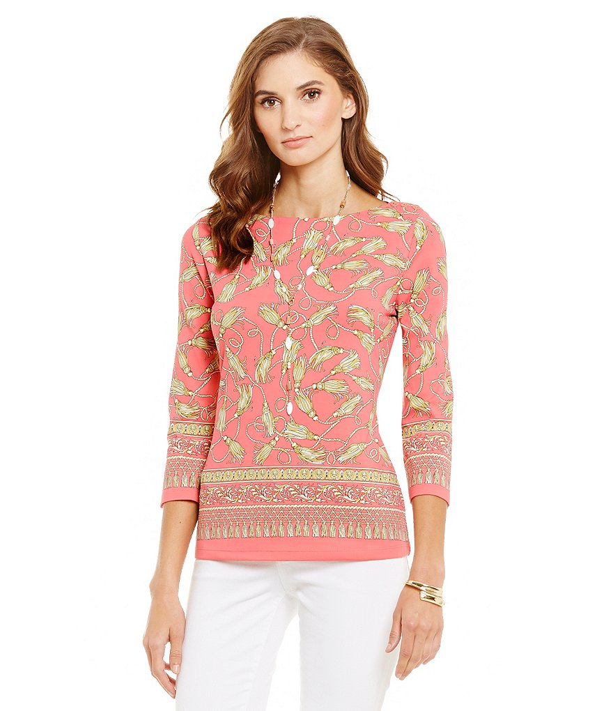 J.McLaughlin Wavesong 3/4 Sleeve Top