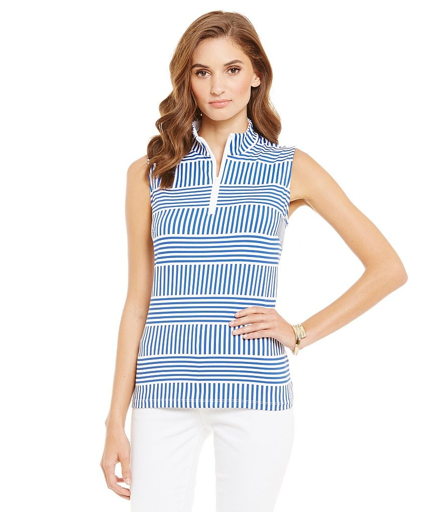 J.McLaughlin Sleeveless Stripe Bedford Top