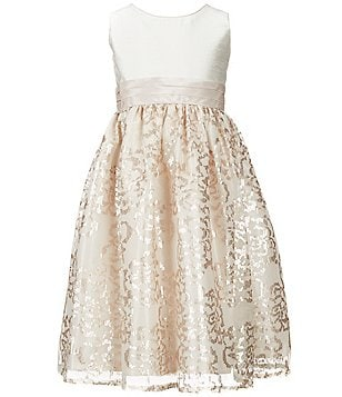 Jayne Copeland Big Girls 7-12 Sequin Mesh Overlay Dress