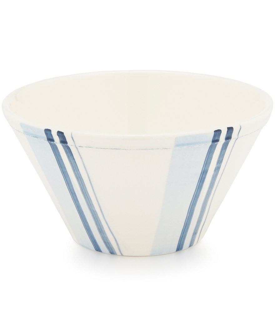 Cremieux Hand-Painted Striped Earthenware Cereal Bowl