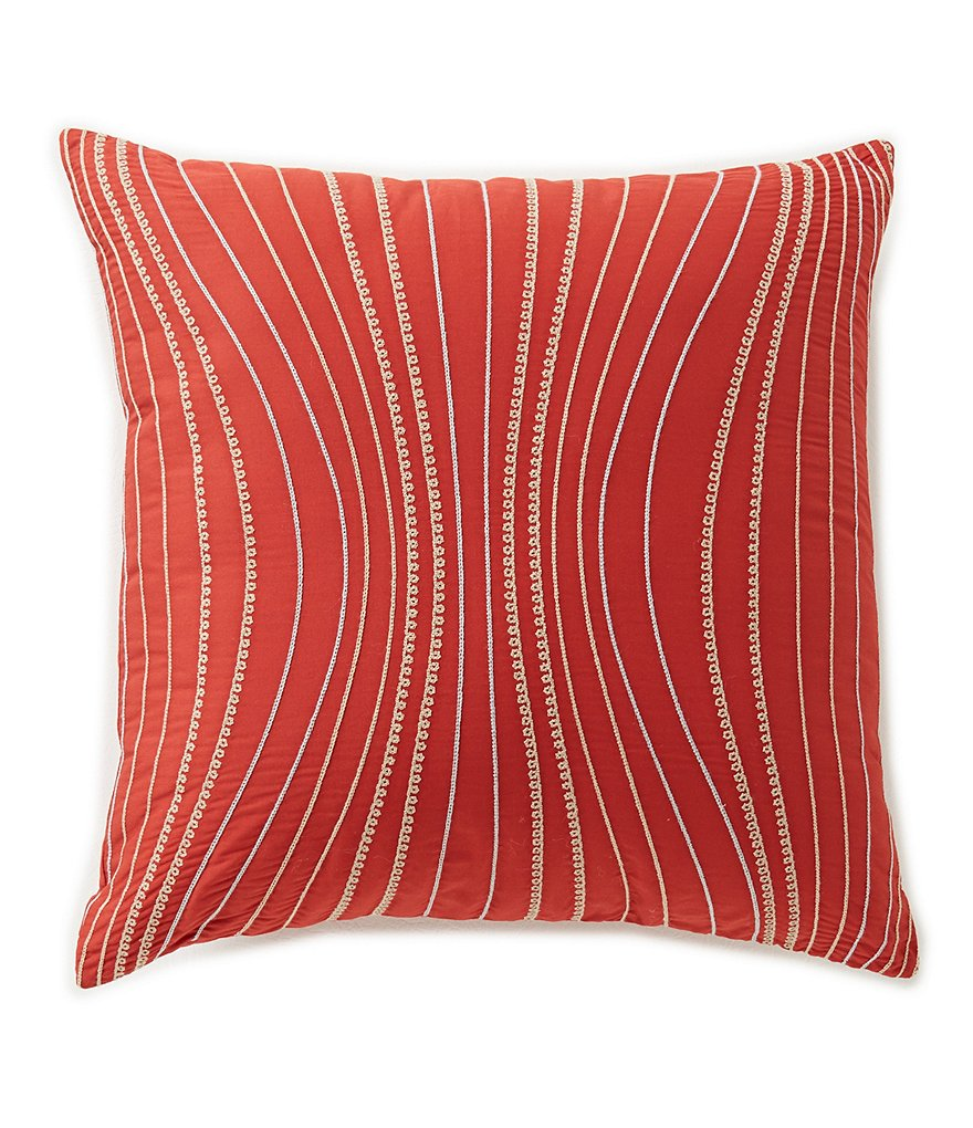 Moderne by Noble Excellence Helix Embroidered Square Pillow