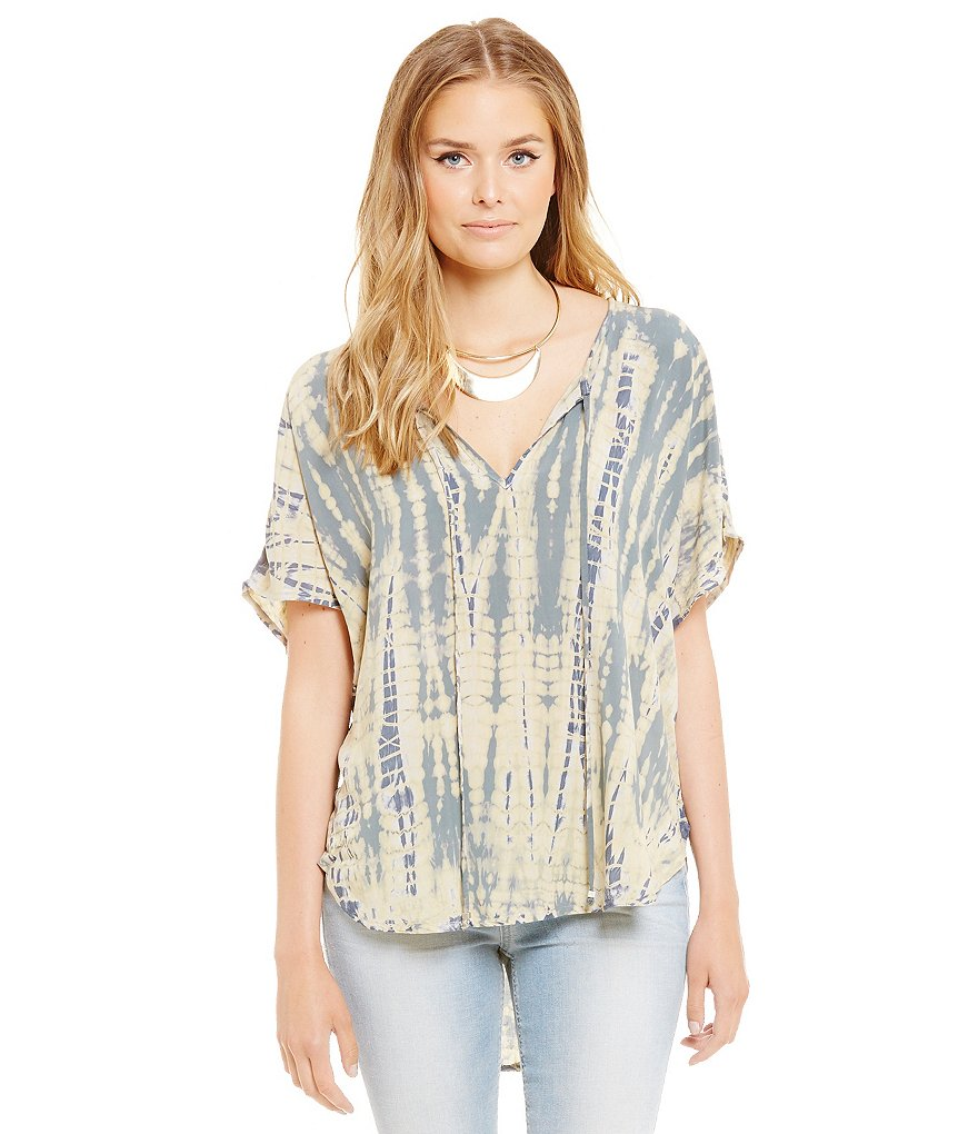 Michael Stars Short Sleeve Peasant Top