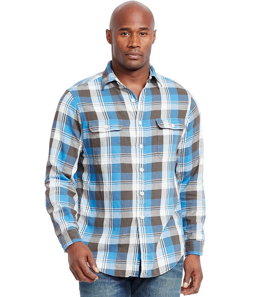Polo Ralph Lauren Big & Tall Plaid Twill Workshirt