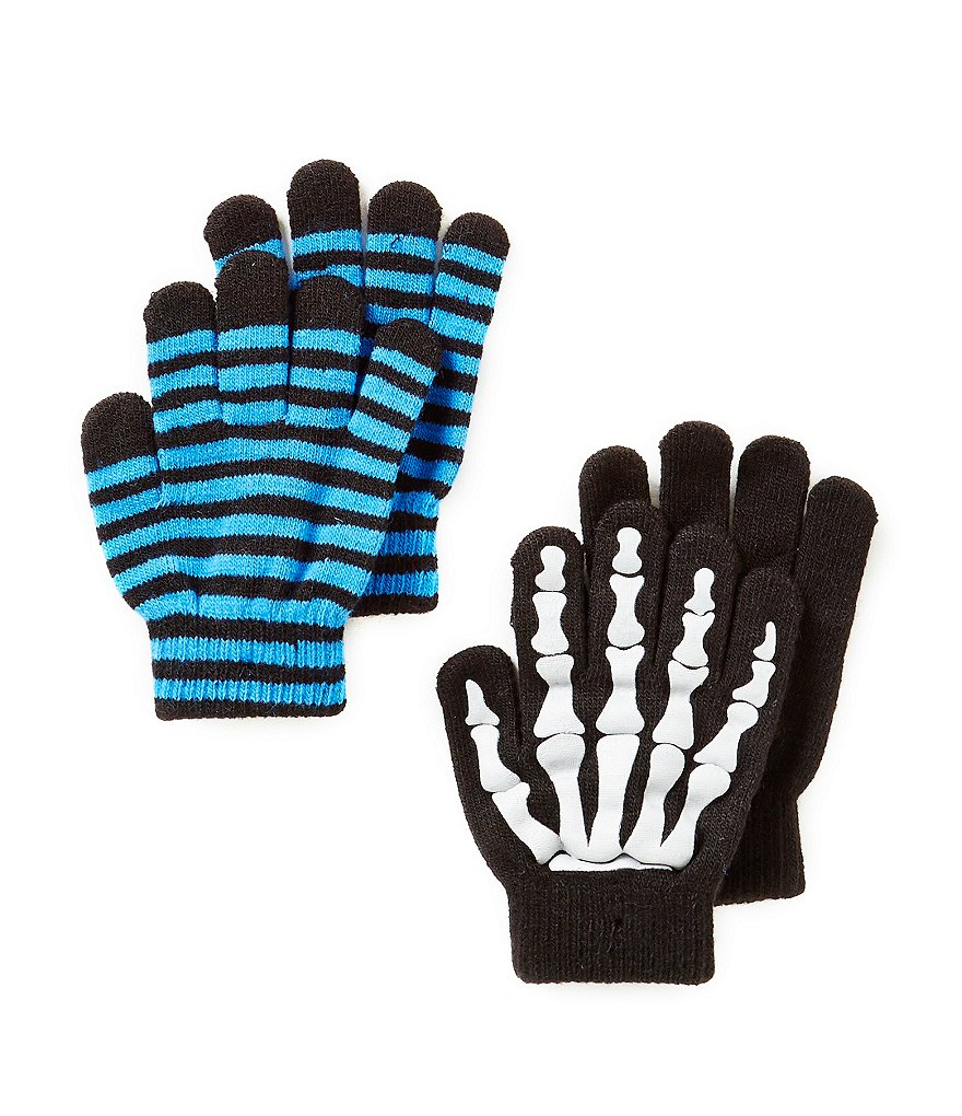 Class Club Boys Skeleton Printed Gripper Gloves