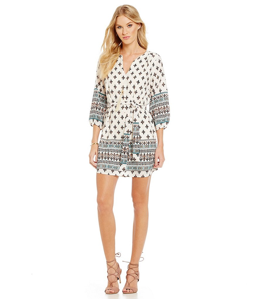 Collective Concepts Border Print Dress