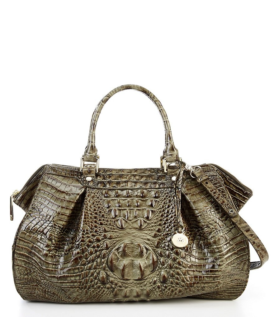 Brahmin Melbourne Collection Faye Croco-Embossed Satchel