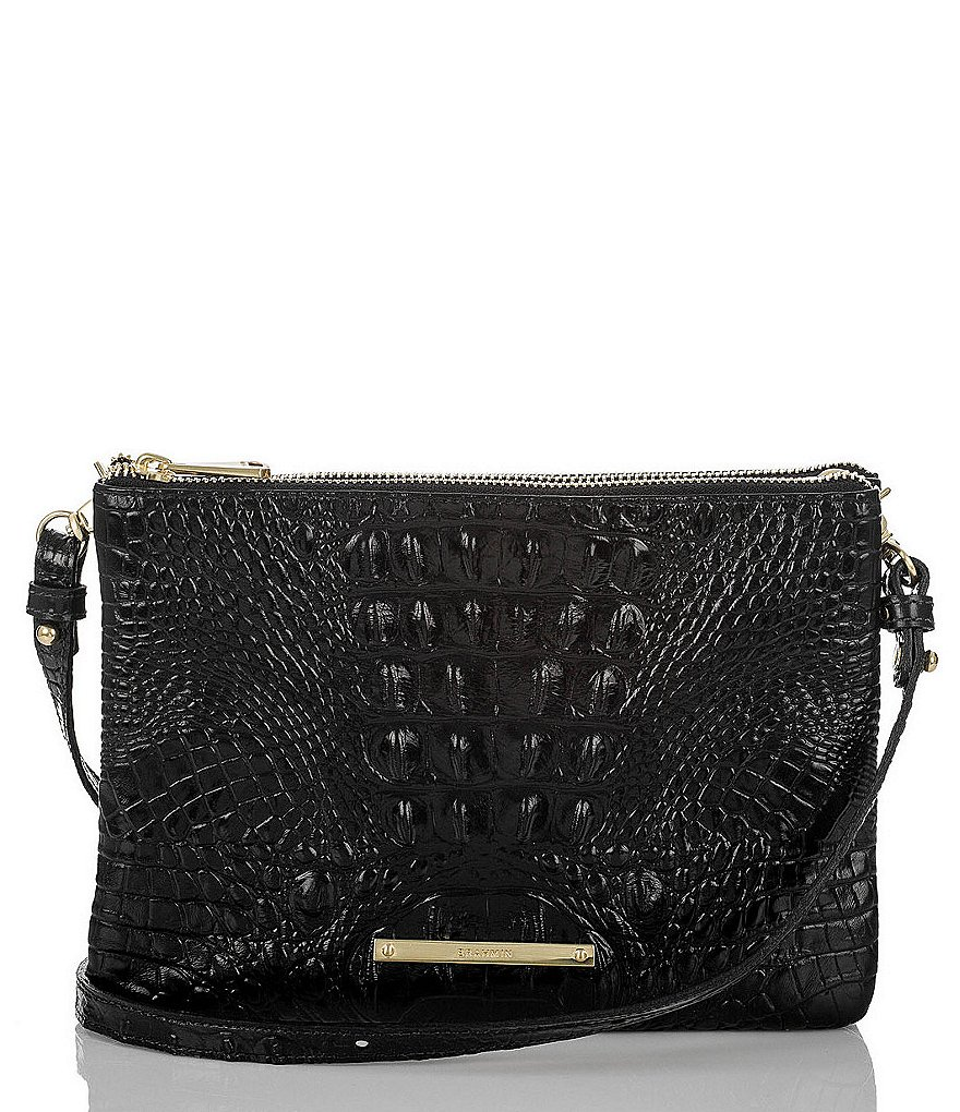 Brahmin Melbourne Collection Perri Croco-Embossed Cross-Body Bag