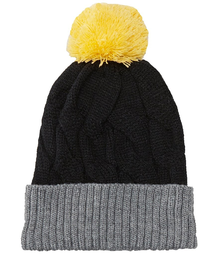 Class Club Color Block Cable Hat