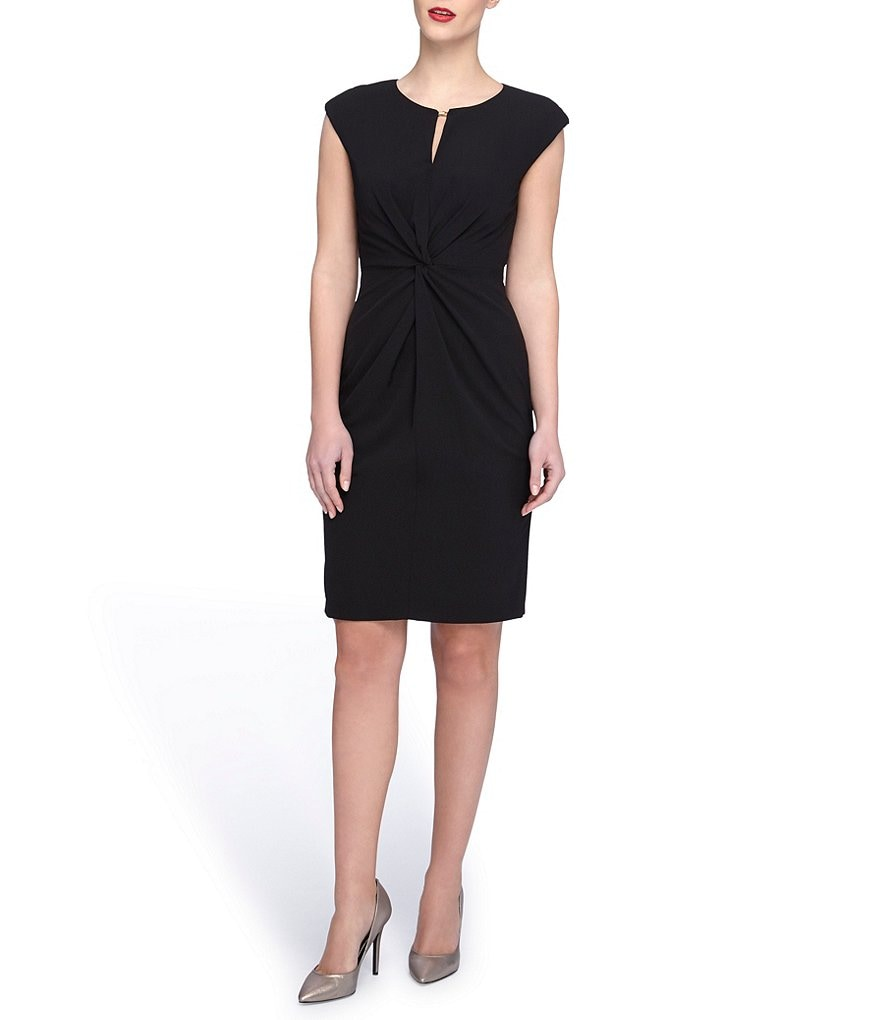 Tahari ASL Petite Crepe Cap Sleeve Dress