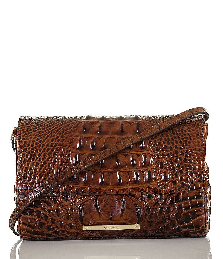 Brahmin Melbourne Collection Carina Croco-Embossed Shoulder Bag