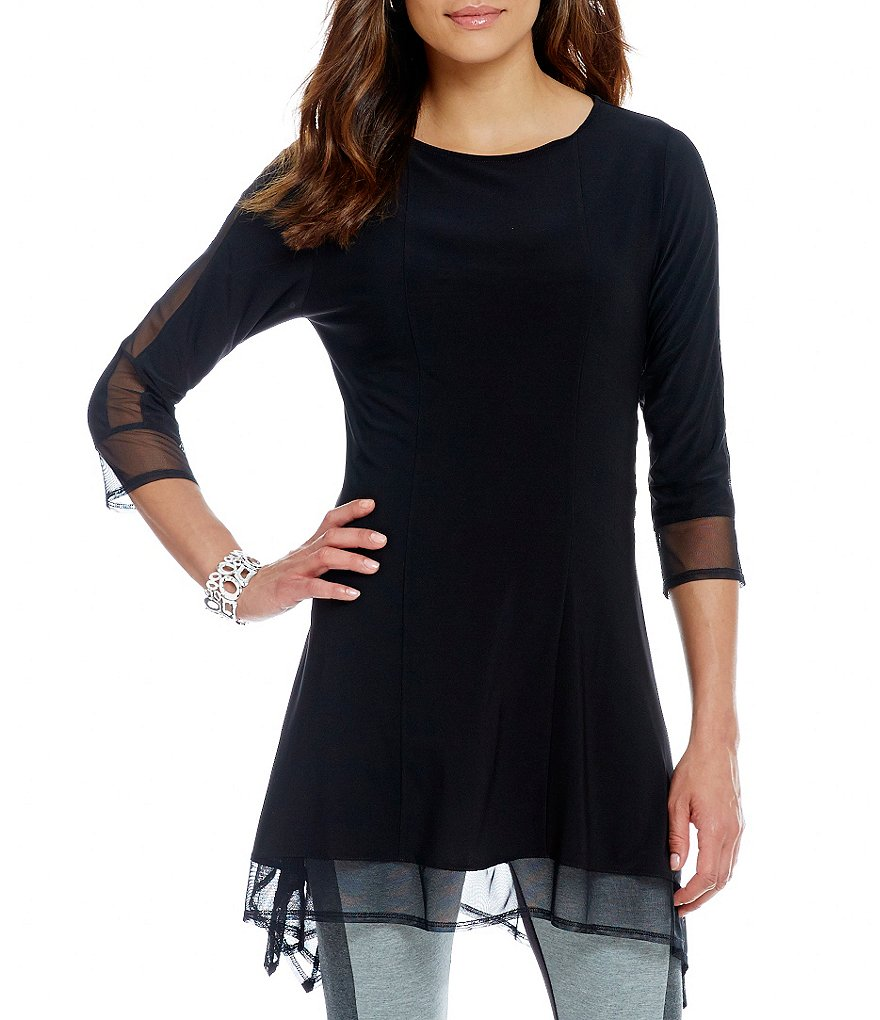 IC Collection Mesh Trim Tunic