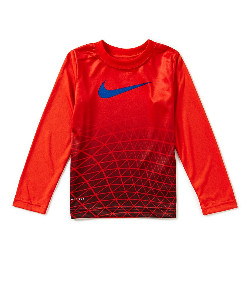 Nike Little Boys 4-7 Metric Fade Dri-FIT Long-Sleeve Tee