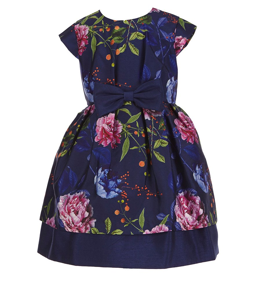Pippa & Julie Little Girls 2T-6X Floral-Print Bow Dress