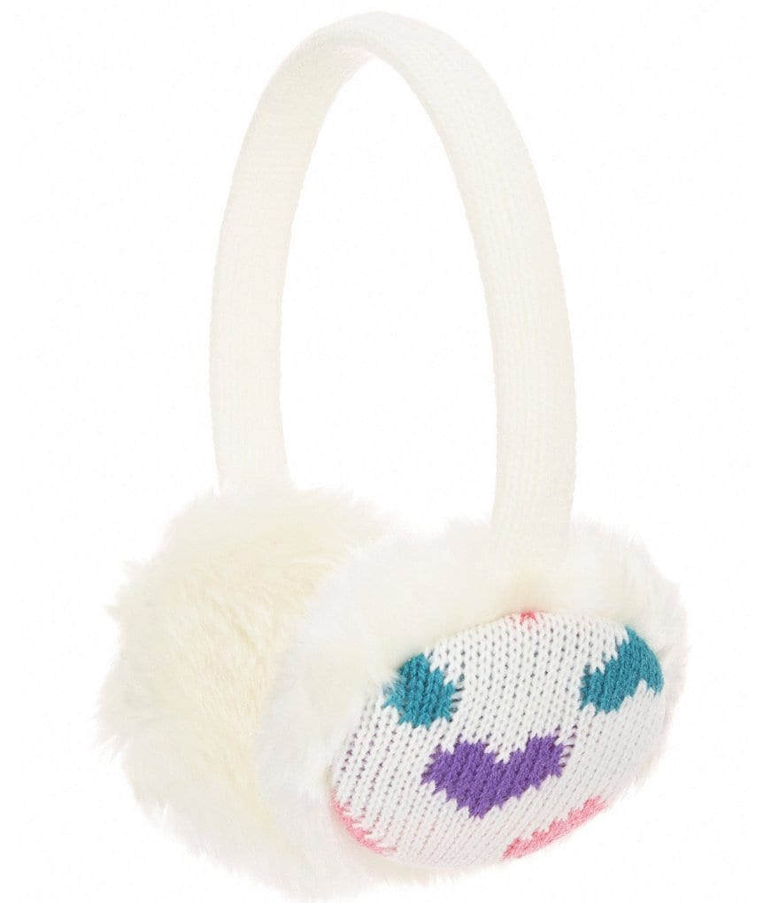 Copper Key Girls Faux-Fur Heart Earmuff