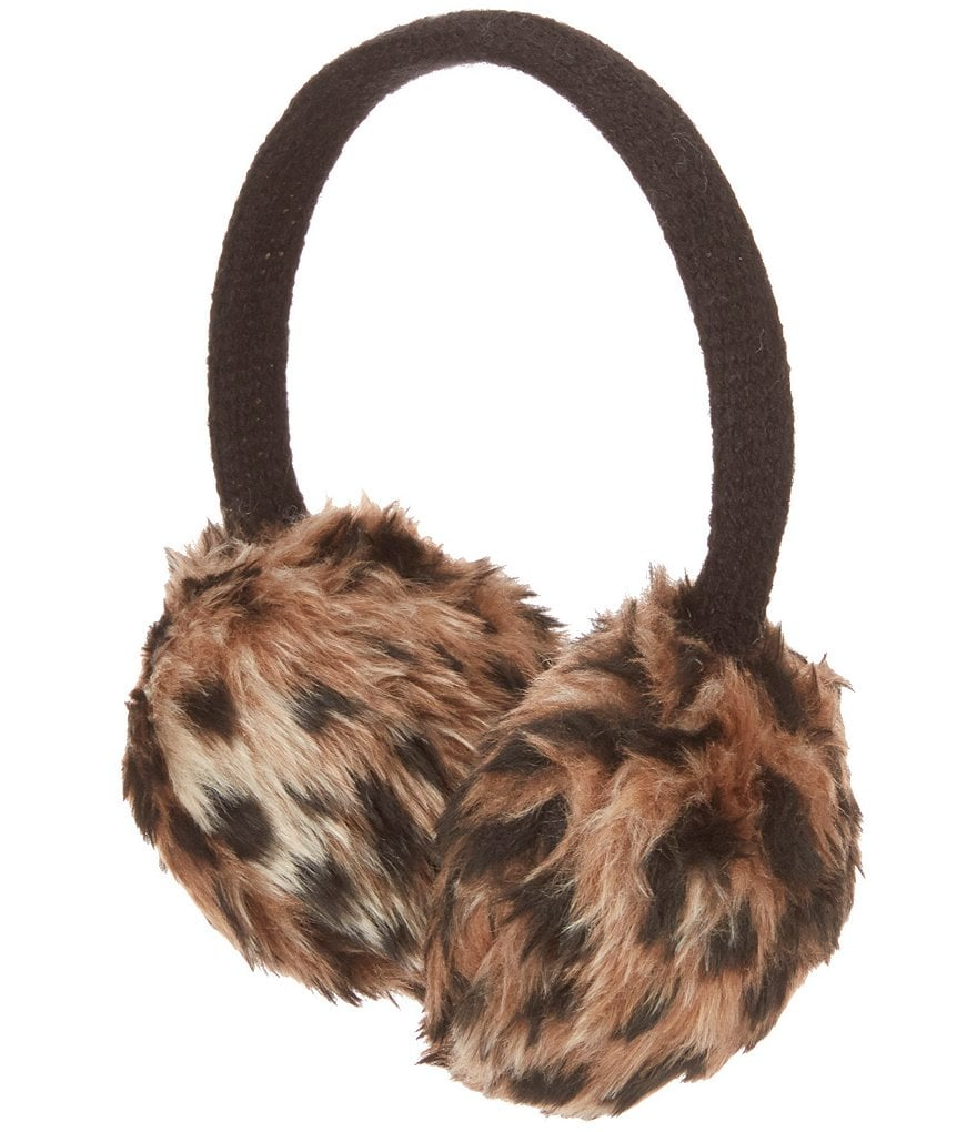 Copper Key Girls Leopard Faux-Fur Earmuffs
